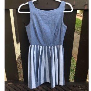 American Apparel Striped Chambray Sun Button Dress